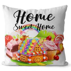 Polštář Home sweet home – candy