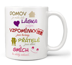 Hrnek Domov, láska a smích