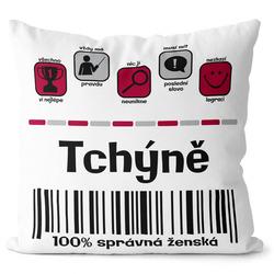 Polštářek Tchýně 100%