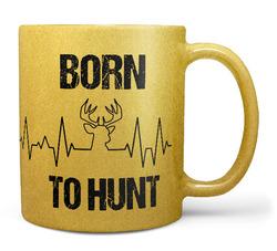 Hrnek Born to hunt (zlatý)