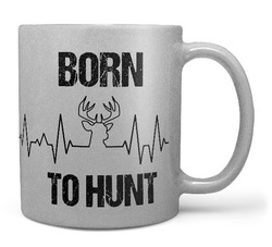 Hrnek Born to hunt (stříbrný)