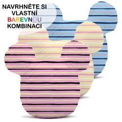 Polštářek - Myšák s pruhy