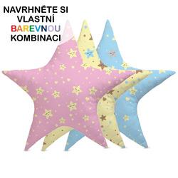 Polštářek – Hvězda s hvězdičkami