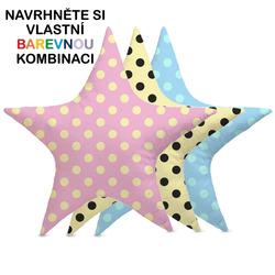Polštářek – Hvězda s puntíky