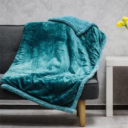Mikroflanelová deka s imitací ovčího rouna se vzorem
