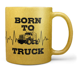 Hrnek Born to truck (zlatý)