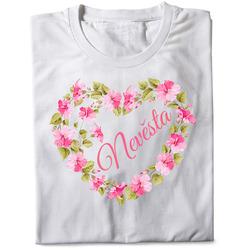 Tričko Nevěsta – srdce z květin (dámské)