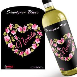Víno Nevěsta – srdce z květin