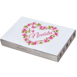 Bonboniéra Nevěsta – srdce z květin