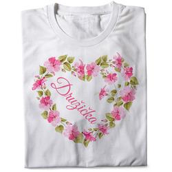 Tričko Družička – srdce z květin (dámské)