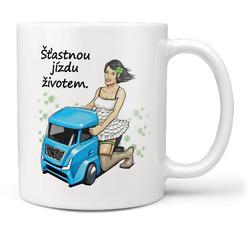 Hrnek Šťastnou jízdu kamion