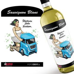 Víno Šťastnou jízdu životem – kamion
