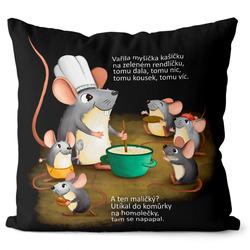 Polštář Vařila myšička