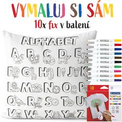 Polštářek s omalovánkou Alphabet