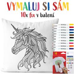 Polštářek s omalovánkou Unicorn