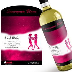 Víno Blíženci (22.5. - 21.6.) - Červené provedení
