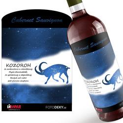 Víno Kozoroh (22.12. - 20.1.) - Modré provedení