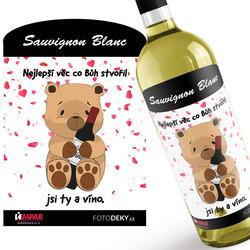 Víno Medvídek s vínem