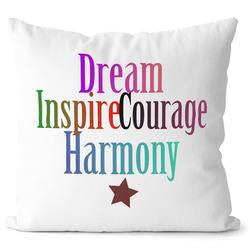 Polštářek Dream, Courage, Inspire, Harmony