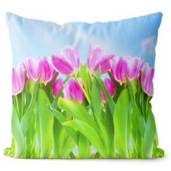 Polštář Růžové tulipány