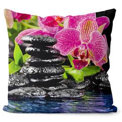 Polštář Orchidej s černými kameny