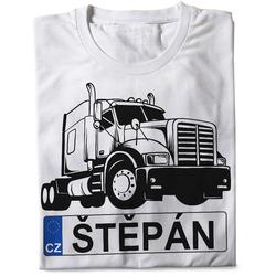 Tričko SPZ se jménem – černý kamion (pánské)