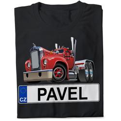 Tričko SPZ se jménem – barevný kamion (pánské)