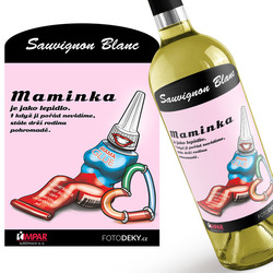 Víno Maminka jako lepidlo