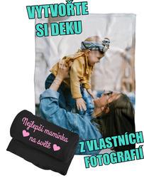 Deka z vlastních fotografií a textů Fleece 140x200cm/360g ke Dni matek