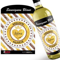 Víno Šéfová - pruhované