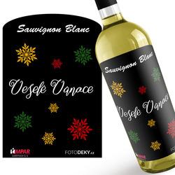 Víno Veselé Vánoce – vločky