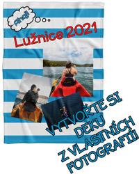 Deka z vlastních fotografií a textů Fleece 140x200cm/360g pro vodáky
