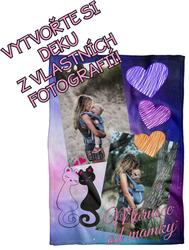 Deka z vlastních fotografií a textů Fleece 140x200cm/360g pro dceru