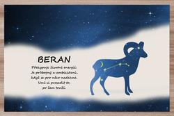 Prostírání Beran (21.3. - 20.4.) - modré