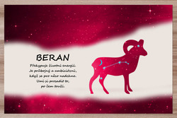 Prostírání Beran (21.3. - 20.4.) - červené