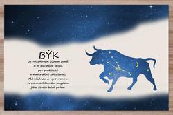 Prostírání Býk (21.4. - 21.5.) - modré
