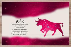 Prostírání Býk (21.4. - 21.5.) - červené