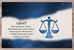 Prostírání Váhy (23.9. - 22.10.) - modré