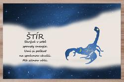 Prostírání Štír (23.10. - 22.11.) - modré