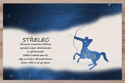 Prostírání Střelec (23.11. - 21.12.) - modré
