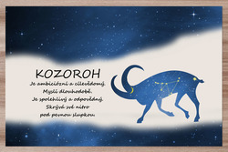 Prostírání Kozoroh (22.12. - 20.1.) - modré