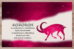 Prostírání Kozoroh (22.12. - 20.1.) - červené