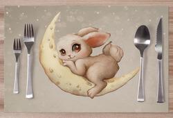 Prostírání Rabbit on the moon