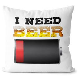 Polštář I need beer