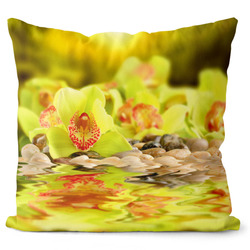 Polštář Zelená orchidej