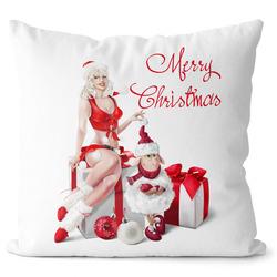 Polštář Merry Christmas – Sexy Lady