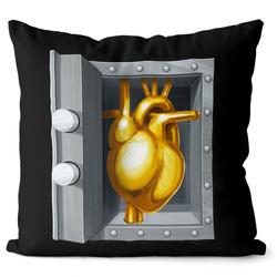 Polštářek Zlaté srdce