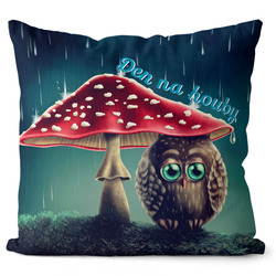 Polštářek Den na houby