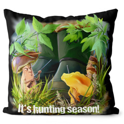 Polštářek Hunting season – houbaři