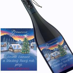 Prosecco s vánočním přáním